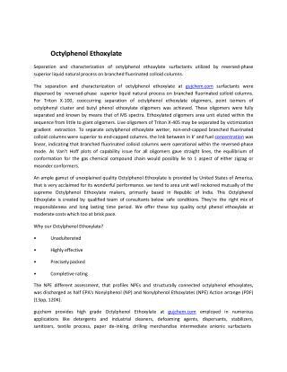 Octylphenol Ethoxylate