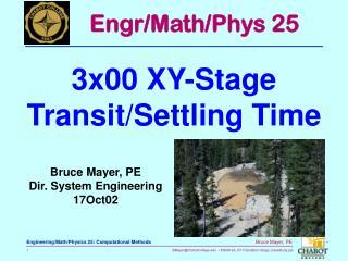 Bruce Mayer, PE Dir. System Engineering 17Oct02