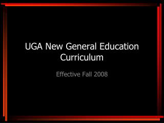 UGA New General Education Curriculum