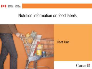 Nutrition information on food labels
