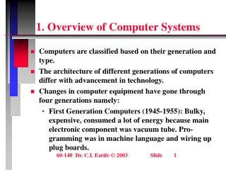 1. Overview of Computer Systems