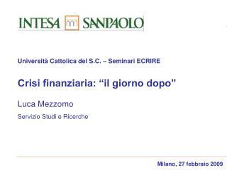 Milano, 27 febbraio 2009