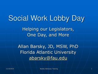 Social Work Lobby Day