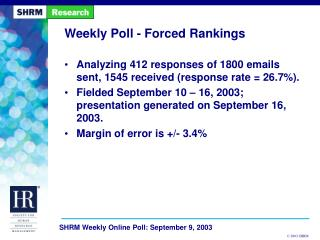 Weekly Poll - Forced Rankings