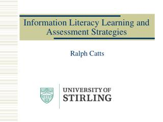Information Literacy Learning and Assessment Strategies