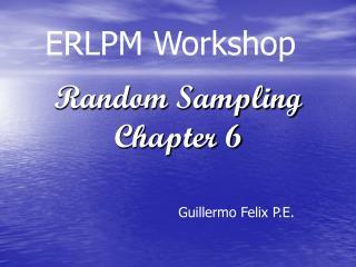 Random Sampling  Chapter 6