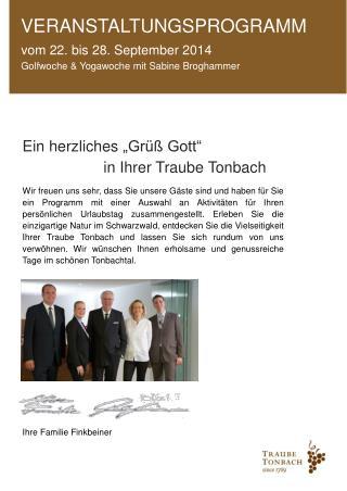 vom 22. bis 28. September 2014 Golfwoche & Yogawoche mit Sabine Broghammer