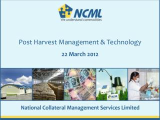 Post Harvest Management & Technology