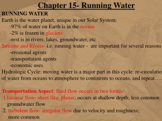 Chapter 15- Running Water