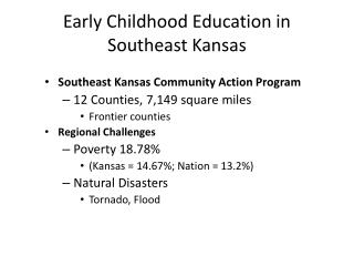 Early Childhood Education in Southeast Kansas