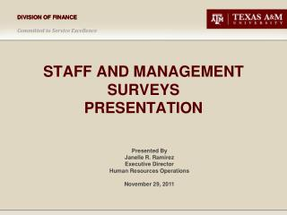 Staff and management surveys presentation