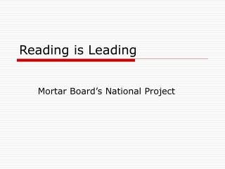 Reading is Leading