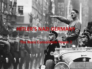 HITLER'S NAZI GERMANY