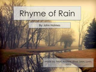 Rhyme of Rain