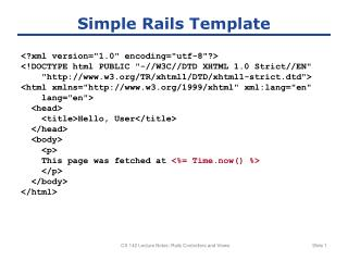 Simple Rails Template