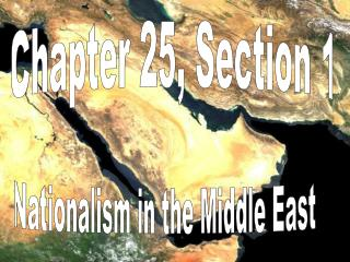 Chapter 25, Section 1