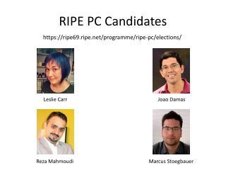 RIPE PC  Candidates