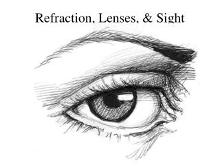 Refraction, Lenses, & Sight