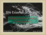 The Essence of Thought