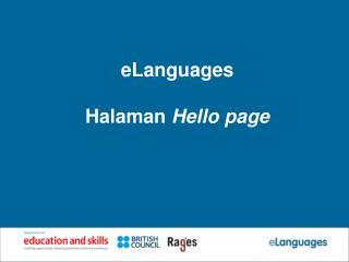 eLanguages  Halaman  Hello page