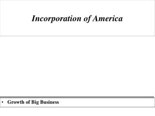 Incorporation of America