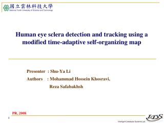 Human eye sclera detection and tracking using a modified time-adaptive self-organizing map