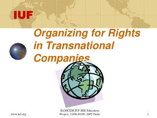 Organizing for Rights in Transnational Companies