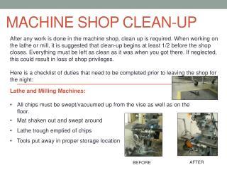 Machine Shop Clean-Up
