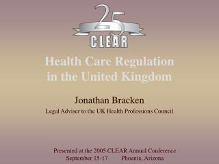 Health Care Regulation  in the United Kingdom