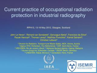 Current practice of occupational radiation protection in industrial radiography