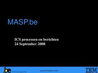 ICS processen en berichten 24 September 2008