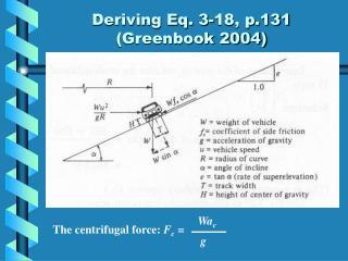 Deriving Eq. 3-18, p.131  (Greenbook 2004)