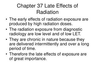 Chapter 37 Late Effects of Radiation
