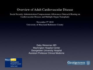 Gaby Weissman MD Washington Hospital Center Georgetown University Hospital
