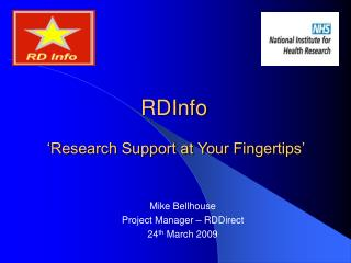 RDInfo  'Research Support at Your Fingertips'