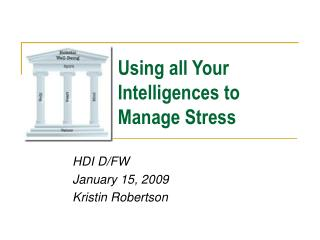 Using all Your Intelligences to Manage Stress
