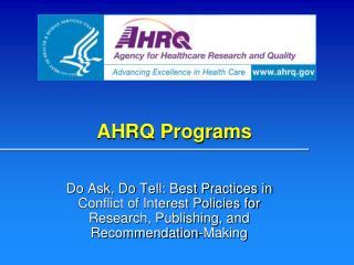 AHRQ Programs