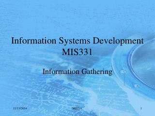 Information Systems Development MIS331