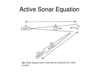 Active Sonar Equation