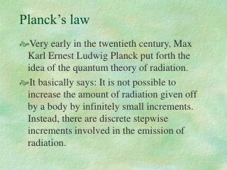 Planck�s law