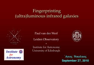 Fingerprinting (ultra)luminous infrared galaxies
