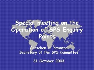 Special meeting on the Operation of SPS Enquiry Points