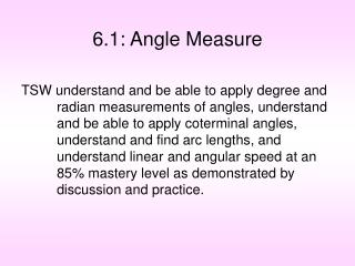 6.1: Angle Measure