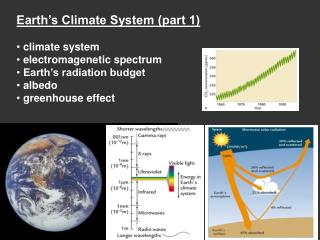 Earth's Climate System (part 1)  climate system  electromagenetic spectrum