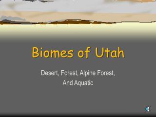 Biomes of Utah