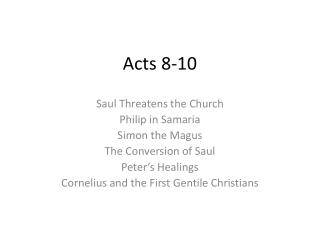 Acts 8-10