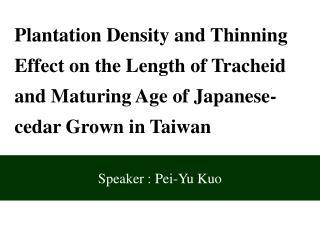 Speaker : Pei-Yu Kuo