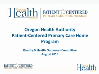 Patient-Centered Primary Care Home Program