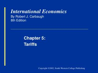 International Economics By Robert J. Carbaugh 8th Edition