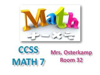 CCSS Math 7